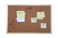Studio shot of cork board