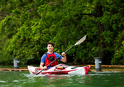 Prime Minister Justin Trudeau kayaks on the Niagara River in Niagara-on-the Lake, Ont., on Monday, June 5, 2017. Trudeau was promoting World Environment Day. Photo by Nathan Denette/CP/ABACAPRESS.COM