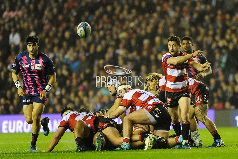 Greg Laidlaw gets Lions call up after the European Rugby Challenge Cup match between Gloucester Rugby and Stade Francais at BT Murrayfield, Edinburgh, Scotland on 12 May 2017. Photo by Kevin Murray.