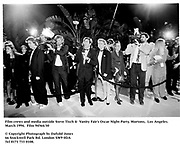 Film crews and media outside Steve Tisch &  Vanity Fair's Oscar Night Party,<br />