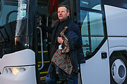 Forest Green Rovers manager, Mark Cooper arrives at the ground during the EFL Sky Bet League 2 match between Crewe Alexandra and Forest Green Rovers at Alexandra Stadium, Crewe, England on 20 March 2018. Picture by Shane Healey.