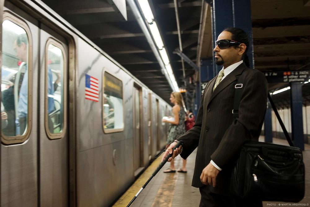 New York City, June 2010. Subway.