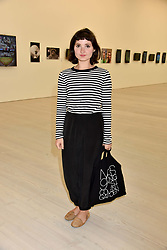 Ruby Bentall at a preview of the 'From Selfie To Self-Expression' exhibition at The Saatchi Gallery, Duke Of York's HQ, King's Road, London, England. 30 March 2017.