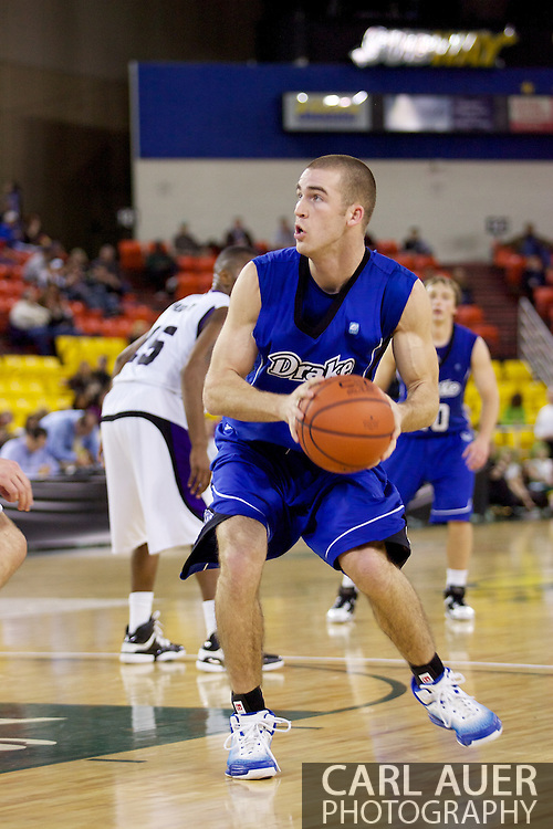 November 27th, 2010:  Anchorage, Alaska - Drake Bulldog forward Aaron Hawley (2) looks for a shot in the Bulldog's 81-82 loss to Weber State in the third place game of the Great Alaska Shootout.