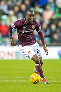 Clevid Dikamona (#28) of Heart of Midlothian during the Ladbrokes Scottish Premiership match between Hibernian FC and Heart of Midlothian FC at Easter Road Stadium, Edinburgh, Scotland on 29 December 2018.