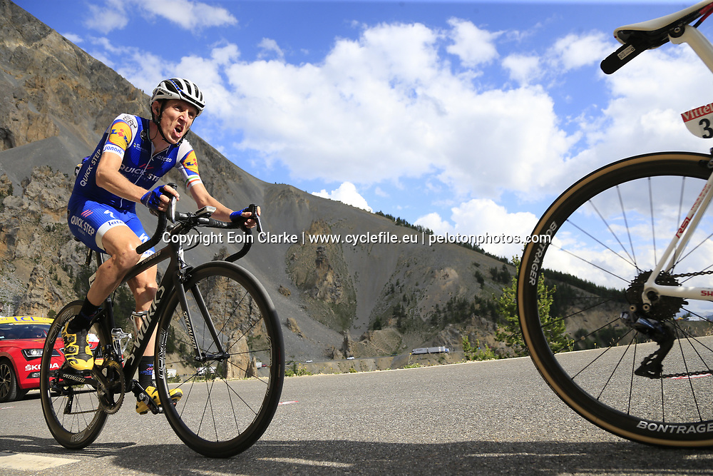 Dan Martin (IRL) Quick-Step Floors climbs through the Caisse Deserte on Col d'Izoard during Stage 18 of the 104th edition of the Tour de France 2017, running 179.5km from Briancon to the summit of Col d'Izoard, France. 20th July 2017.<br /> Picture: Eoin Clarke | Cyclefile<br /> <br /> All photos usage must carry mandatory copyright credit (&copy; Cyclefile | Eoin Clarke)