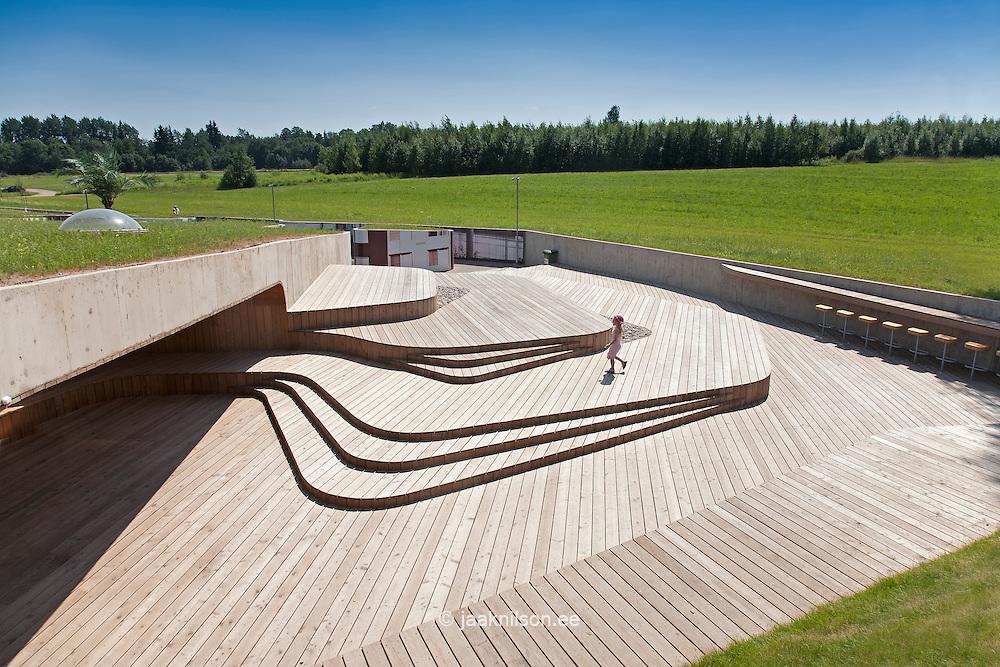 Wooden Terrace in Estonian Road Museum, Põlva County