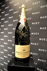 Champagne bottle signed by celebrities at the Moet & Chandon Tribute to Cinema party held at the Big Sky Studios, Brewery Road, London N7 on 24th March 2009.