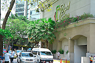 Pictured: Via Espan?a shooping area Street scene. Downtown Panama City. Royal Casino, Marriot Hotel