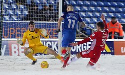 Marcus Maddison of Peterborough United is tackled by Luke Leahy of Walsall - Mandatory by-line: Joe Dent/JMP - 27/02/2018 - FOOTBALL - ABAX Stadium - Peterborough, England - Peterborough United v Walsall - Sky Bet League One