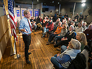 29 JANUARY 2020 - KNOXVILLE, IOWA: TOM STEYER speaks at a campaign event in Knoxville, about 40 miles southeast of Des Moines, Wednesday. About 60 people attended the campaign meet and greet. Steyer, a California businessman, is campaigning to be the Democratic nominee for the US Presidency in 2020. Iowa holds the first selection event of the 2020 election cycle. The Iowa Caucuses are Feb. 3, 2020.         PHOTO BY JACK KURTZ