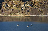 Fishing on Dry Falls Lake, Sun Lakes-Dry Falls State Park, Columbia Plateau Washington