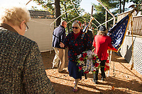 Langley Cemetery dedication ceremony.  Karen Bobotas for the Laconia Daily Sun