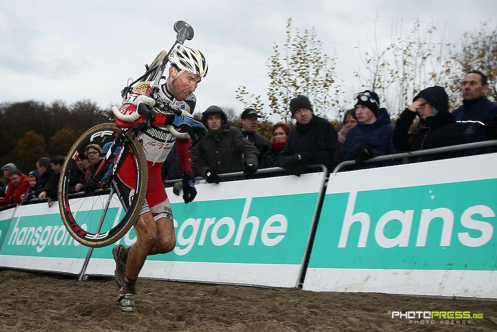 NETHERLANDS / NEDERLAND / PAYS BAS / GIETEN / CYCLING / WIELRENNEN / CYCLISME / CYCLOCROSS / VELDRIJDEN /  HANSGROHE SUPERPRESTIGE VELDRIJDEN / VINNIE BRAET (SUNWEB-NAPOLEON GAMES) /