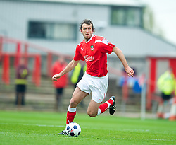 WREXHAM, WALES - Monday, May 7, 2012: Wrexham's Glen Little in action against Luton Town during the Football Conference Premier Division Promotion Play-Off 2nd Leg at the Racecourse Ground. (Pic by David Rawcliffe/Propaganda)