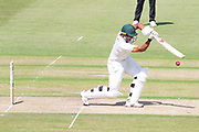 Ben Mike batting during the Specsavers County Champ Div 2 match between Gloucestershire County Cricket Club and Leicestershire County Cricket Club at the Cheltenham College Ground, Cheltenham, United Kingdom on 15 July 2019.