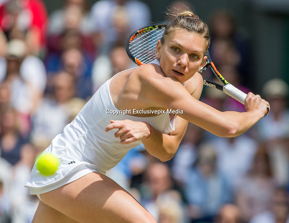 WIMBLEDON - GB -  5th July 2016: The Wimbledon Tennis Championship continues at the All England Lawn Tennis Club in S.E. London.<br /> <br /> Simona Halep (ROU) vs Angelique KERBER (Ger). <br /> &copy;Ian Jones/Exclusivepix Media<br /> <br /> <br /> <br /> Pictured: Angelique KERBER (Ger). Winner.