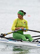 Eton Dorney, Windsor, Great Britain,..2012 London Olympic Regatta, Dorney Lake. Eton Rowing Centre, Berkshire[ Rowing]...Description;  Women's Single Sculls Sculls  LTU W1X Donata VISTARTAITE.   Dorney Lake. 11:29:47  Thursday  02/08/2012.  [Mandatory Credit: Peter Spurrier/Intersport Images].Dorney Lake, Eton, Great Britain...Venue, Rowing, 2012 London Olympic Regatta...