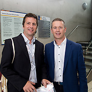 31.08. 2017.                                   <br /> Leaders in the pharmaceutical manufacturing sector in Ireland gathered at University of Limerick today for the third annual Pharmaceutical Manufacturing Technology Centre (PMTC) Knowledge Day.<br /> <br /> Pictured at the event were, Gareth Jenkins, Britest and John Cooney, Novartis.<br /> <br /> The event provided a showcase for the cutting-edge research supported by the centre with key note addresses from industry thought leaders who shared their vision of the future for the pharmaceutical sector. Picture: Alan Place
