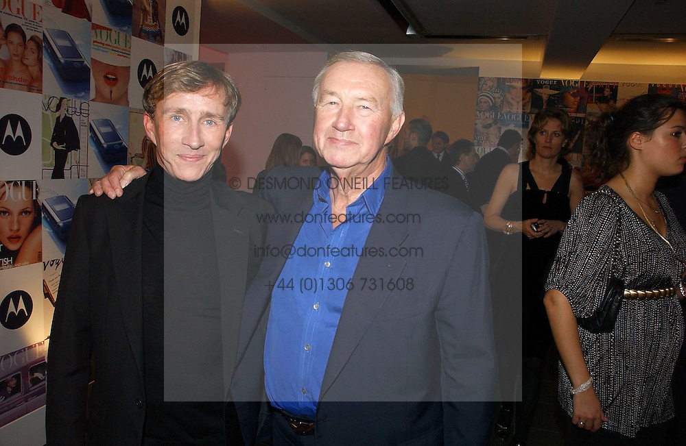 Left to right, JASPER CONRAN and SIR TERENCE CONRAN at a party to celebrate the 90th birthday of Vogue magazine held at The Serpentine Gallery, Kensington Gardens, London on 8th November 2006.<br />