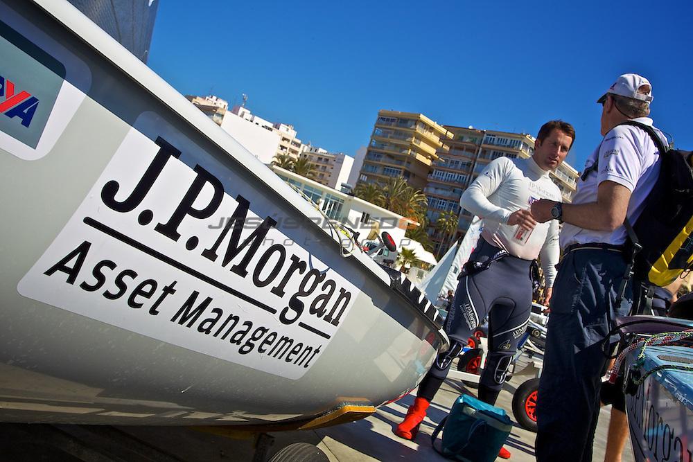 Ben Ainslie team training in Mallorca, March,15,2012.©jrenedo