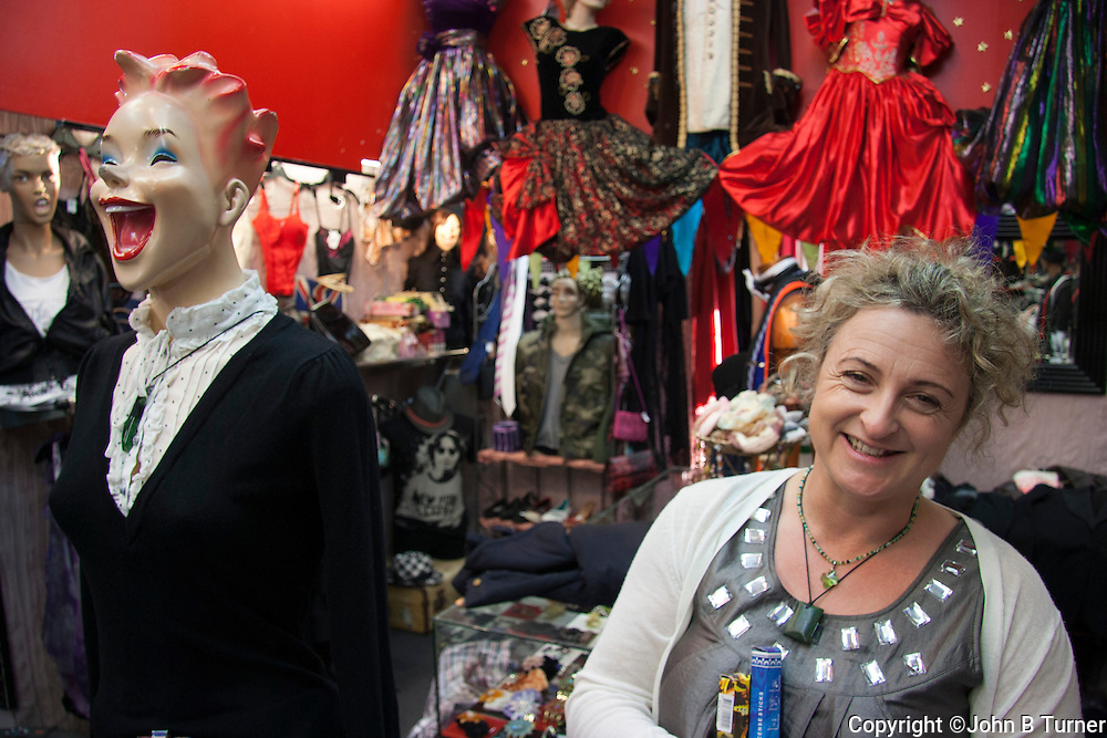 Princess Nicole's Recycled Wardrobe, located on Auckland's Dominion Road, is well worth a visit just to interact with its collection of delightfully manic mannequins that simply cannot be ignored.