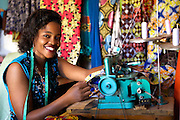 "Rahab Mbuba, also known as 'Mama B"", set up and now runs a tailoring business, designing and making clothes.<br /> <br /> She attended MKUBWA enterprise training run by the Tanzania Gatsby Trust in partnership with The Cherie Blair Foundation for Women."
