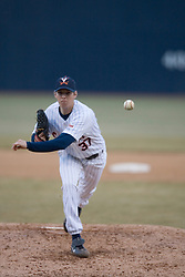 Virginia Cavaliers pitcher Brad Grove (37)pitches against Coppin State. The Virginia Cavaliers Baseball Team defeated the Coppin State Eagles 12-0 at Davenport Field in Charlottesville, VA on February 21, 2007.