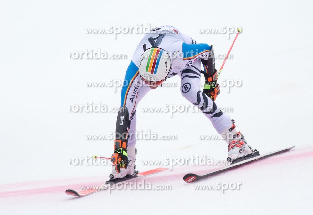 28.02.2016, Hannes Trinkl Rennstrecke, Hinterstoder, AUT, FIS Weltcup Ski Alpin, Hinterstoder, Riesenslalom, Herren, 2. Lauf, im Bild Stefan Luitz (GER) // Stefan Luitz of Germany reacts after his 2nd run of men's Giant Slalom of Hinterstoder FIS Ski Alpine World Cup at the Hannes Trinkl Rennstrecke in Hinterstoder, Austria on 2016/02/28. EXPA Pictures © 2016, PhotoCredit: EXPA/ Johann Groder