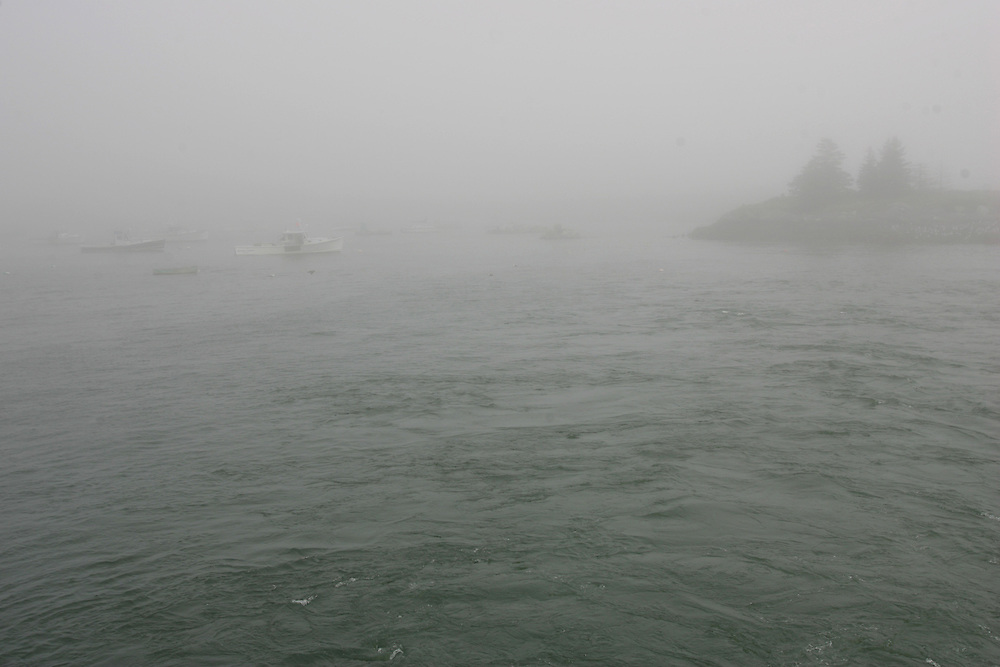 Vinalhaven, Maine 2007: .Fog on the ferry to Rockland