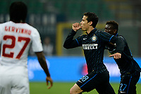 Esultanza gol di Hernanes Inter 1-0. Celebration goal<br /> Milano 25-04-2015 Stadio Giuseppe Meazza - Football Calcio Serie A Inter - Roma. Foto Giuseppe Celeste / Insidefoto