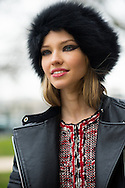 Sasha Luss at Chanel FW2015 - beauty