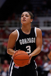 Nov 13, 2011; Stanford CA, USA;  Gonzaga Bulldogs guard Haiden Palmer (3) shoots a free throw against the Stanford Cardinal during the first half at Maples Pavilion.  Stanford defeated Gonzaga 76-61. Mandatory Credit: Jason O. Watson-US PRESSWIRE