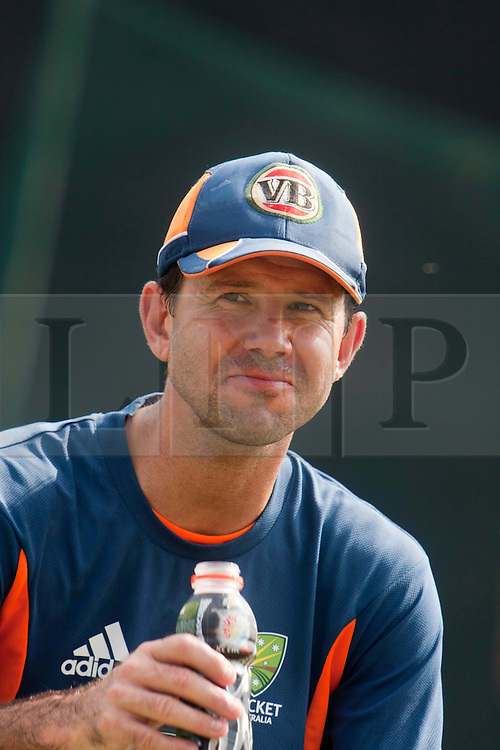©London News Pictures. 18/03/2011.Australian captain Ricky Ponting in good spirits ahead of tomorrows clash with Pakistan at R.Premadasa Stadium colombo Sri Lanka. Photo credit should read Asanka Brendon Ratnayake/London News Pictures