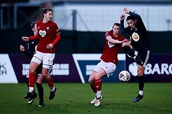 Gemma Evans of Bristol City and Meaghan Sargeant of Bristol City - Mandatory by-line: Ryan Hiscott/JMP - 08/12/2019 - FOOTBALL - Stoke Gifford Stadium - Bristol, England - Bristol City Women v Birmingham City Women - Barclays FA Women's Super League