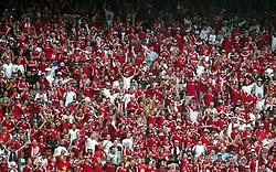Stadio  Bessa PORTO PORTUGAL 22/06/04  DENMARK V SWEDEN  EURO 2004.DENMARK  FANS.