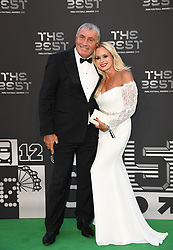 Former England goalkeeper Peter Shilton and wife Steph Shilton arrive to the Best FIFA Football Awards 2018 at the Royal Festival Hall, London, UK, on September 24, 2018. Photo by Christian Liewig/ABACAPRESS.COM