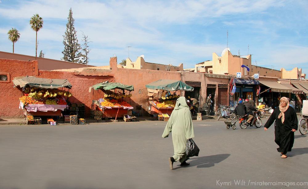 North Africa, Africa, Morocco, Marrakesh. Street scene in Marrakesh.