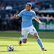 NEW YORK, NEW YORK - May 29:  RJ Allen #27 of New York City FC in action during the New York City FC Vs Orlando City, MSL regular season football match at Yankee Stadium, The Bronx, May 29, 2016 in New York City. (Photo by Tim Clayton/Corbis via Getty Images)
