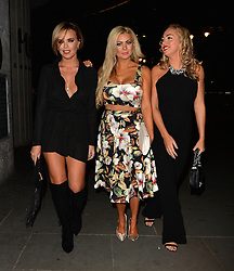Aisleyne Horgan-Wallace, Nicola McLean and Maria Fowler enjoy a night out STK restaurant in London, UK. 19/09/2015 <br />BYLINE MUST READ : GOTCHAIMAGES.COM<br /><br />Copyright by © Gotcha Images Ltd. All rights reserved.<br />Usage of this image is conditional upon the acceptance <br />of Gotcha Images Ltd, terms and conditions available at<br />www.gotchaimages.com