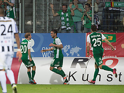 08.05.2015, Stadion der Stadt, Linz, AUT, 2.FBL, LASK Linz vs Mattersburg, im Bild v.l. Michael Perlak (SV Mattersburg), Markus Pink (SV Mattersburg), Michael Novak (SV Mattersburg) // during Austrian Second Football Bundesliga 32th round Match between LASK Linz and Floridsdorfer AC at the Stadion der Stadt in Linz, Austria on 2015/05/08. EXPA Pictures © 2015, PhotoCredit: EXPA/ Reinhard Eisenbauer