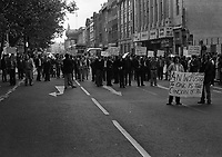 CIE Workers Protest on O'Connells Street, Dublin, Circa September 1983 (Part of the Independent Newspapers Ireland/NLI Collection).