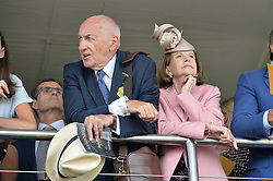 SIR PETER & LADY OSBORNE at day 3 of the Qatar Glorious Goodwood Festival at Goodwood Racecourse, Chechester, West Sussex on 28th July 2016.