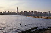 Manhattan skyline from across river