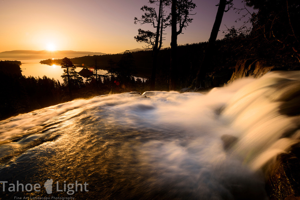 Sunrise over Eagle Falls in Emerald Bay, South Lake Tahoe, CA