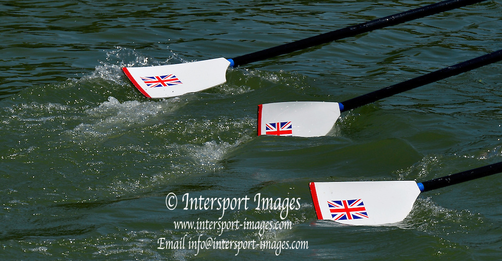 Plovdiv BULGARIA.  GBR Quadruple Scull Oars.  2012 FISA Junior and Non Olympic . Rowing Championships, Plovdiv Rowing Course.    10:03:33  Friday  17/08/2012  [Mandatory Credit Peter Spurrier: Intersport Images]..