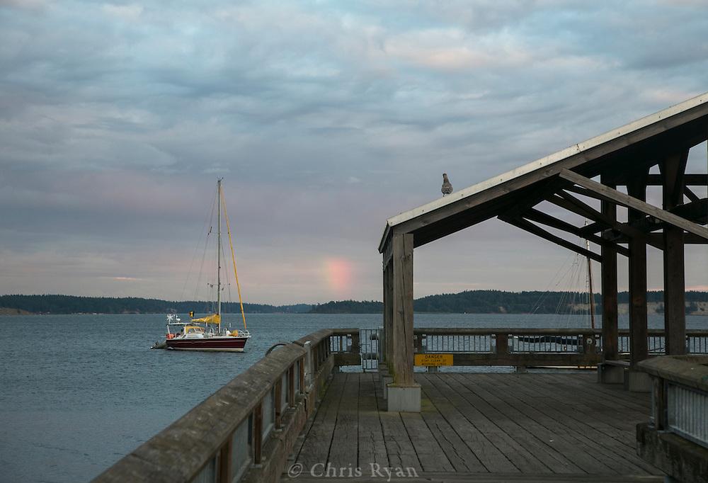 Rainbow at dusk, Port Townsend, Washingon