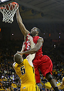 January 27, 2010: Ohio State forward Dallas Lauderdale (52) dunks the ball over Iowa guard Matt Gatens (5) during the first half of their game at Carver-Hawkeye Arena in Iowa City, Iowa on January 27, 2010. Ohio State defeated Iowa 65-57.