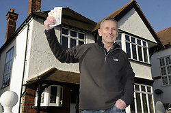 "© Licensed to London News Pictures. 06/01/2012.Bromley man Graham King has decided to give away his house  in a Prize Property Competition. Frustrated after months of being unable to sell his family home because of the current economic climate,  Graham and wife Pamela from Cromwell Avenue in Bromley have set up a website (www.prizeproperty.co.uk) so that people can view the property and purchase tickets for the competition at £30.00 each, people will have to answer three questions about Bromley to enter. The competition which is due to start this week will run until June 26 2012..Mr King needs to sell 25.000 tickets for the prize draw to go ahead. If few than 23,400 tickets are sold a cash prize will be given to the winner instead. Mr King a Business Consultant said ""The biggest challenge will be to sell enough ticket""..Weather Photo credit : Grant Falvey/LNP"
