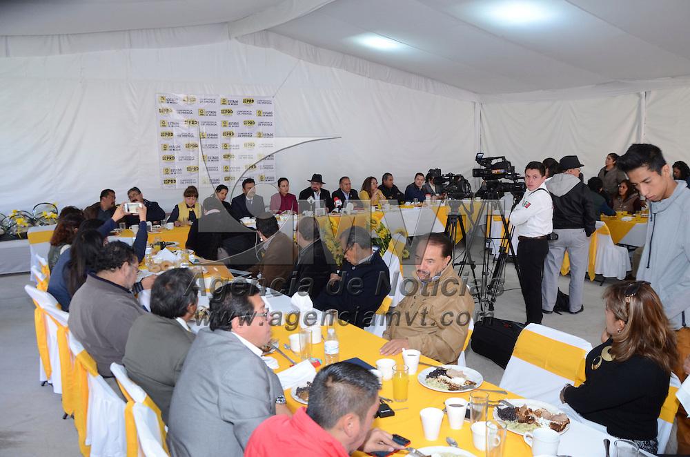 Toluca, México (Enero 10, 2017).- Omar Ortega Álvarez, presidente estatal del Partido de la Revolución Democrática PRD, en conferencia de prensa señalo que más de 20 mil perredistas marcharan a la Ciudad de México, en contra del gasolinazo.  Agencia MVT / José Hernández